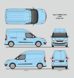 Opel combo 2016 l2h2 cargo delivery van vector
