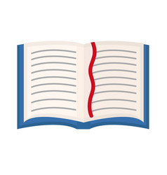 Open book textbook icon flat cartoon style vector
