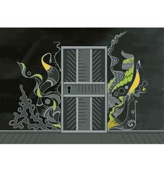 Open door of inspiration vector image