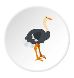 Ostrich icon circle vector