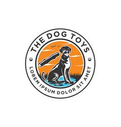 Paw dog logo pet toys logo design vector