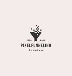 pixel funneling logo icon vector image