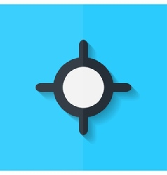 Pointer web icon Flat design vector image