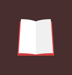 red open book flat icon or sign vector image