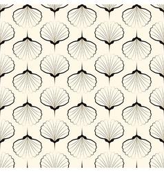 Seamless pattern graphic ornament sea shells vector