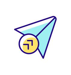 Send rgb color icon vector