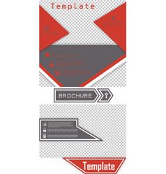Set of brochure template design with arrows vector