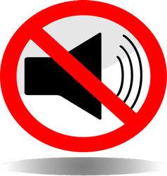 Sign icon ban sound vector