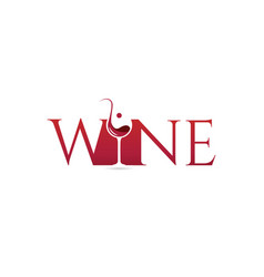 simple white wine logo type vector image