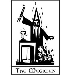 The Magician Tarot Card vector