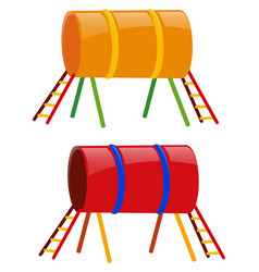 Two tunnels in yellow and red vector