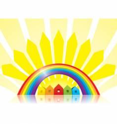 under the rainbow vector image
