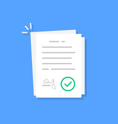 White contract document like treaty vector
