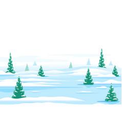 Winter nature landscape background vector