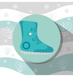 Winter sport wear and accesories vector