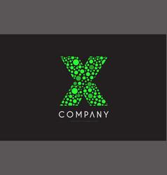 x letter bubble green logo icon design vector image
