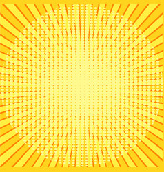 yellow rays pop art background retro vector image