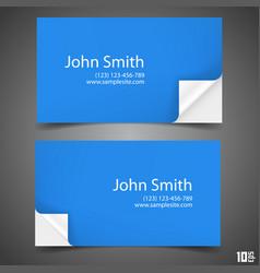 Business card blue vector