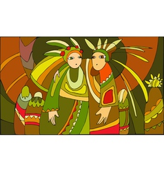 Ethnic People vector image