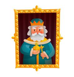 King cartoon portrait vector