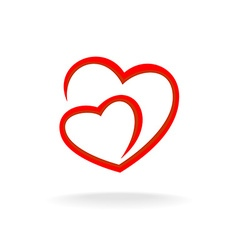 Two hearts logo vector image