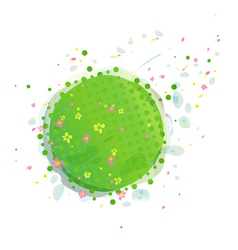 Abstract Green Earth vector image