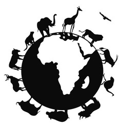 africa animal around the world vector image
