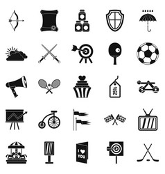 badge icons set simple style vector image vector image
