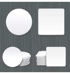 Beer coasters vector image vector image