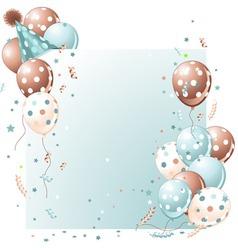 blue birthday card vector image vector image