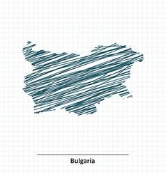 Doodle sketch of Bulgaria map vector image vector image