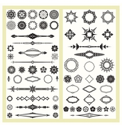 Ornaments and decorative elements vector image vector image