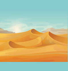 outdoor panorama on desert landscape vector image