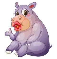 Sexy hippo vector image