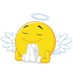 Angel emoticon vector image vector image