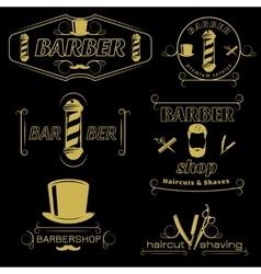 Barber Service Vintage Style Emblems vector image vector image