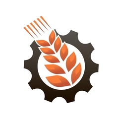 Emblem representing industry and agriculture vector image
