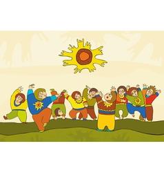 Folk Dance People vector image