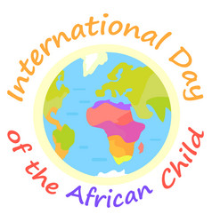 International day of african child holiday poster vector