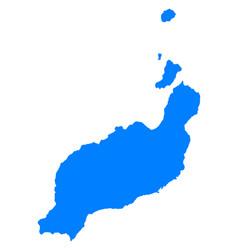 Map of lanzarote vector