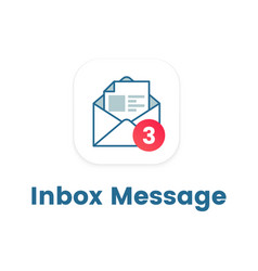 notification icon on open letter concept of ui vector image