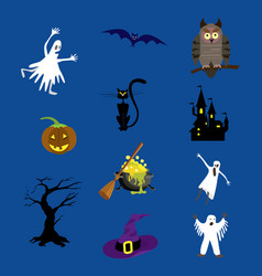 halloween icons set for your vector image vector image