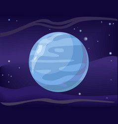 planet neptune in space background vector image vector image
