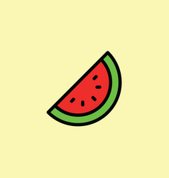 watermelon icon thin line on color background vector image