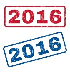 2016 Rubber Stamps vector image