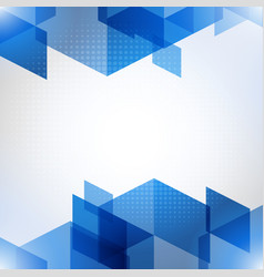 abstract blue background with polygons vector image
