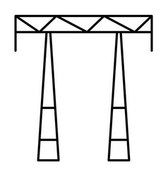 ac electric tower icon outline style vector image