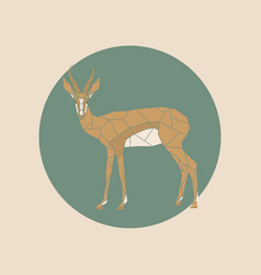 Antelope in a polygon style vector
