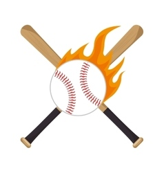 Baseball equipment emblem sport vector