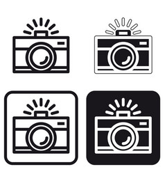 basic camera icon vector image